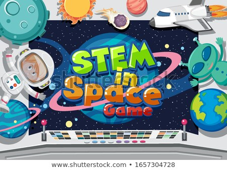Man Astronaut Outer Space Illustration Stock photo © lenm