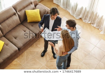 Realtor Showing New House To Customer Stock photo © AndreyPopov