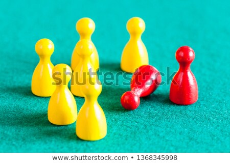Fallen Yellow Pawns In Front Of Red Pawn Stock photo © AndreyPopov