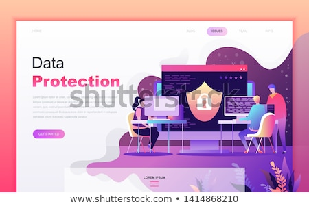 Security access card landing page template. Stock photo © RAStudio