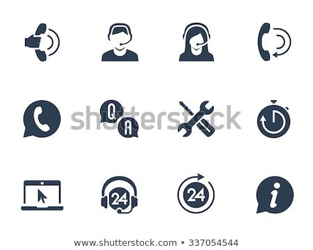 Technische ondersteuning mensen vragen helpen bureau vector Stockfoto © robuart