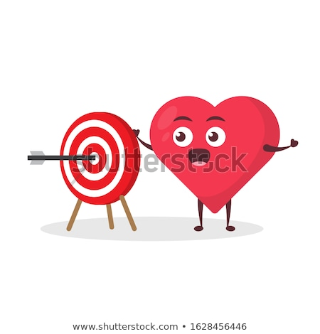 An archery character on white background Stock photo © bluering