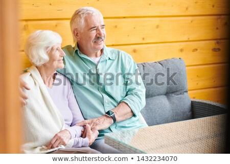gelukkig · holding · handen · huis · ouderdom · accommodatie - stockfoto © pressmaster