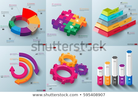 Infographic template with pyramid of hexagons Stock photo © orson