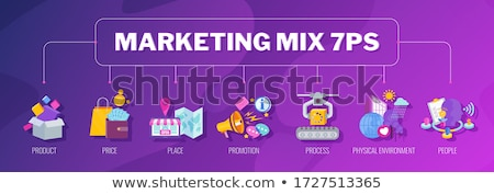 Promotional mix concept vector illustration Stock photo © RAStudio