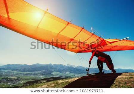 Skydiving and Hang Gliding Activities of Men Stock photo © robuart