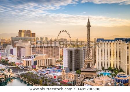 ufuk · çizgisi · Las · Vegas · arka · plan · seyahat · siyah · siluet - stok fotoğraf © prill