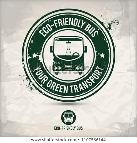alternative eco friendly bus stamp stock photo © szsz