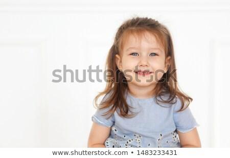 Cute piccolo ragazza denim jeans Foto d'archivio © dashapetrenko