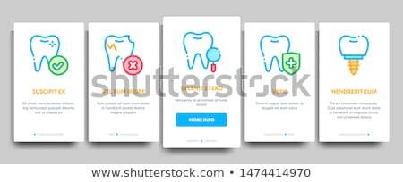stomatology collection vector onboarding stock photo © pikepicture