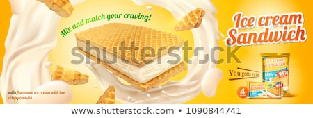 Wafers with milk or vanilla filling Stock photo © magraphics