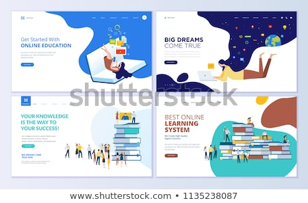 Personalized learning concept landing page Stock photo © RAStudio