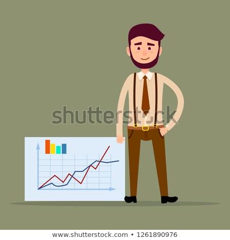 Menedzser áll plakát táblázatok terv férfi Stock fotó © robuart