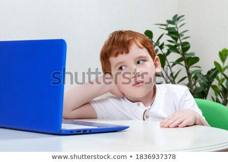 Nerd menino azul quarto composição digital Foto stock © wavebreak_media