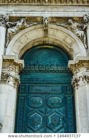 doorway at cathedral of santa maria della salute in venice ital stock photo © boggy