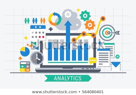 データ 分析論 図 グラフ ベクトル ストックフォト © robuart