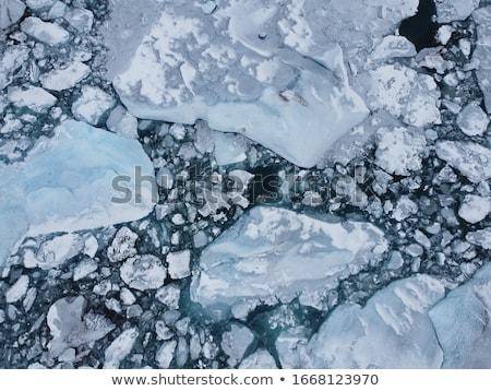 mavi · iki · buzul · göl · İzlanda · yansıma - stok fotoğraf © maridav