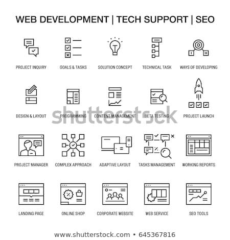 Drawing online task management concept Stock photo © ra2studio