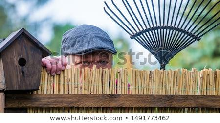 Man ruzie buren triest blond jonge vrouw Stockfoto © AndreyPopov