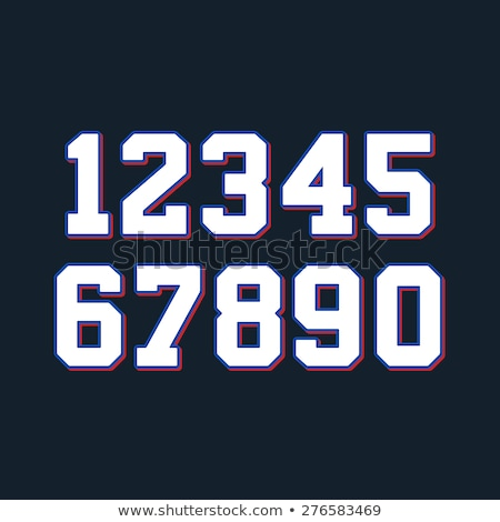 Foto stock: Numbers Font Sport Font With Numbers And Numeric