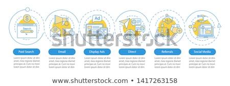infografika · diagramok · szett · pite · poszter · cím - stock fotó © decorwithme