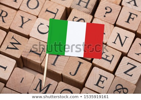 Mały italian flag list nauczyć włoski Zdjęcia stock © AndreyPopov