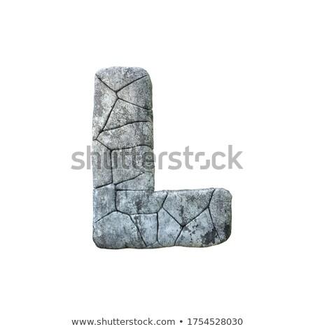 Concrete frattura carattere lettera l 3D rendering 3d Foto d'archivio © djmilic