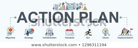 Proyecto planificación banner beneficio crecimiento Foto stock © RAStudio