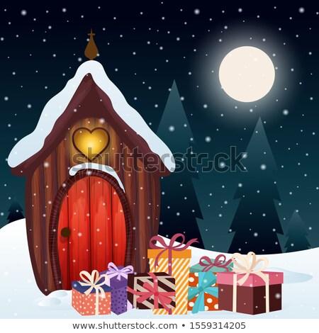 Magiczny christmas scena gnom domu przedstawia Zdjęcia stock © balasoiu