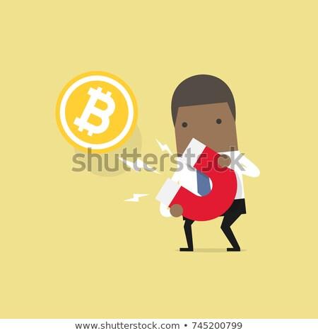 Afroamerikai menedzser tart terv stílus üzlet Stock fotó © hittoon