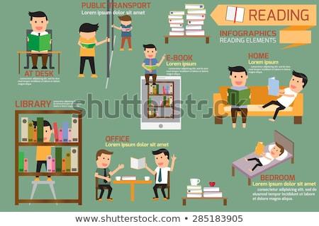 Connaissances affaires lecture livres info vecteur Photo stock © robuart