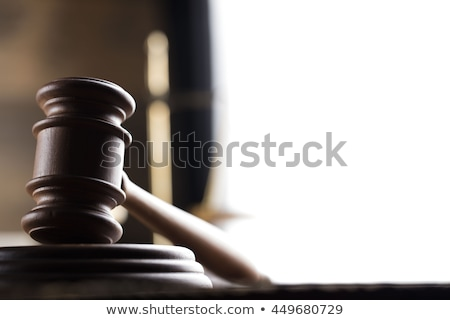 Law theme, mallet of the judge, scales of justice Stock photo © JanPietruszka