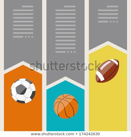 Tenisz játék minimális infografika szalag vektor Stock fotó © pikepicture