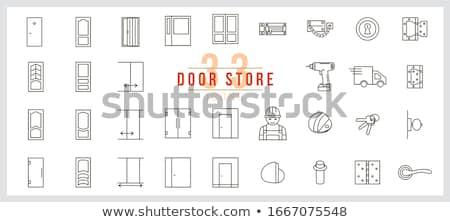 Cam kapı işlemek vektör krom zarif Stok fotoğraf © pikepicture