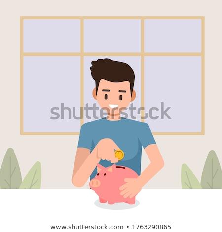 Adam sikke dolar para erkek Stok fotoğraf © robuart