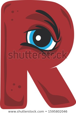 angry mad eye alphabet initial logo vector Stock photo © vector1st