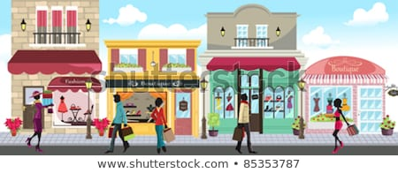 Francese boutique shopping negozi vettore illustrazione Foto d'archivio © artisticco