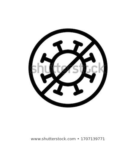 Safeguard Healthcare Bacteria Vector Sign Icon Stock photo © pikepicture