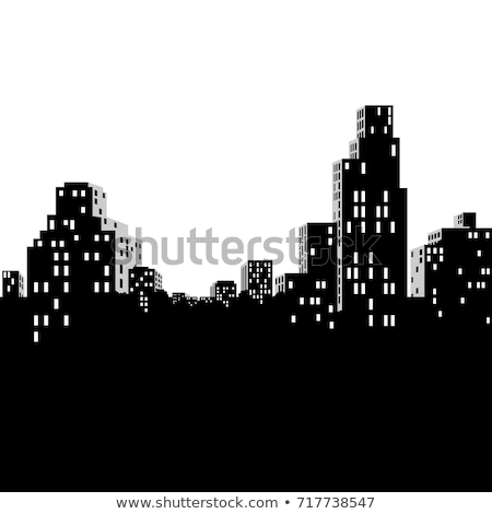 Outline Chicago city skyline with blue skyscrapers and copy spac Stock photo © ShustrikS