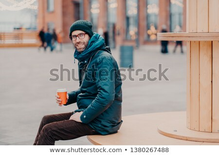 Horizontal vue européenne homme hérisser Photo stock © vkstudio