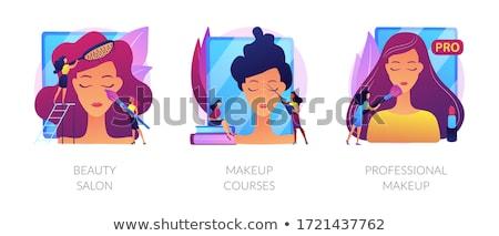 Makeup courses vector concept metaphor Stock photo © RAStudio