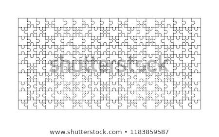 白 ピース 長方形 ジグソーパズル テンプレート ストックフォト © evgeny89