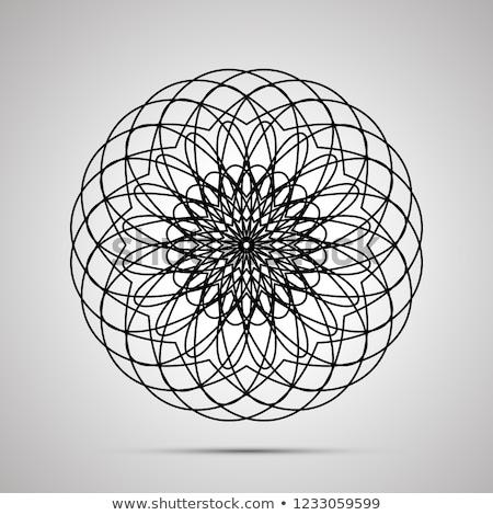 Skomplikowany proste czarny ikona cień szary Zdjęcia stock © evgeny89