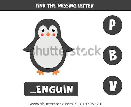 Black and White Cartoon of Writing Skills Practice Workbook with Letter C Stock photo © natali_brill