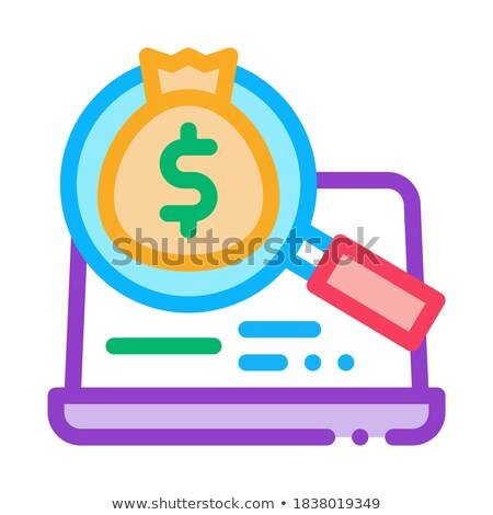 detection of money in computer icon vector outline illustration Stock photo © pikepicture