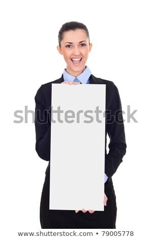 Mulher terno conselho venda corretor Foto stock © robuart