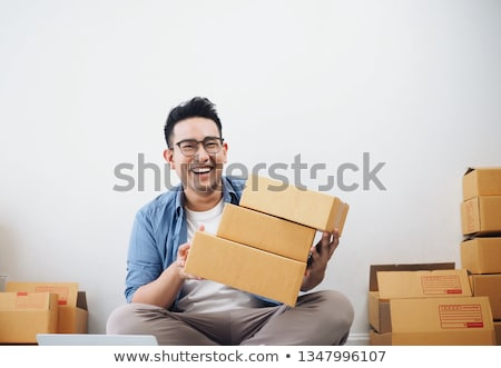 Asian man ondernemer startup kleine bedrijven freelance Stockfoto © snowing
