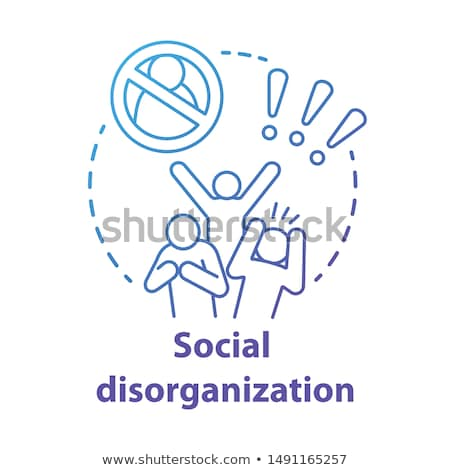 Social behaviour abstract concept vector illustration. Stock photo © RAStudio