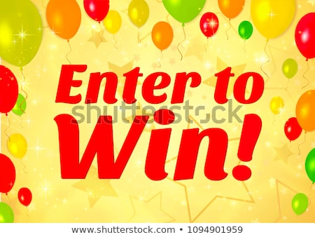 enter to win prizes banner in yellow color design Stock photo © SArts