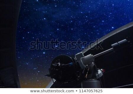 sterrenkundig · witte · koepel · blauwe · hemel · venster - stockfoto © lunamarina